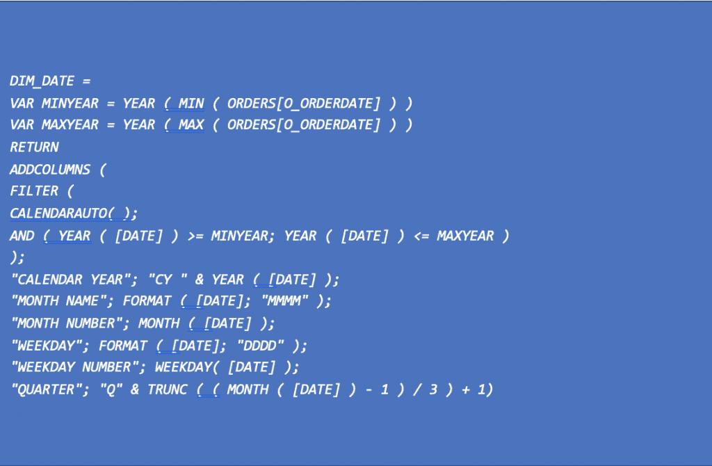 Power BI ft. DAX table de variable