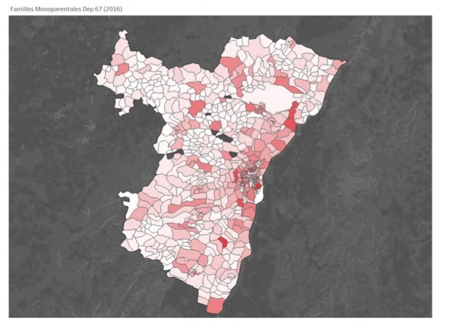 Familles monoparentales dans le Bas-Rhin