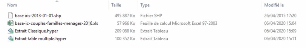 démonstration des volumes des fichiers