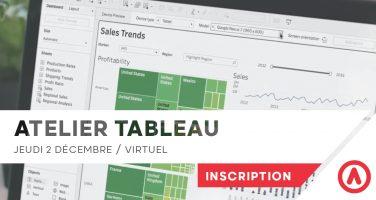 Atelier Tableau Software Data Dashboard